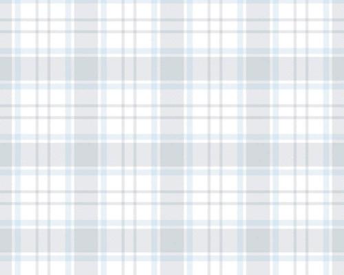 RW59381223A  Blue/Grey Plaid Wallpaper