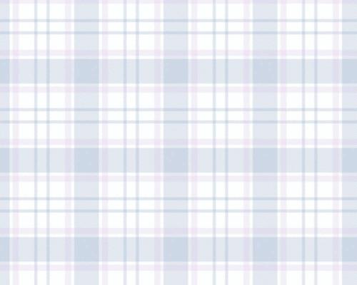 RW59381224A  Blue/Pink Plaid Wallpaper
