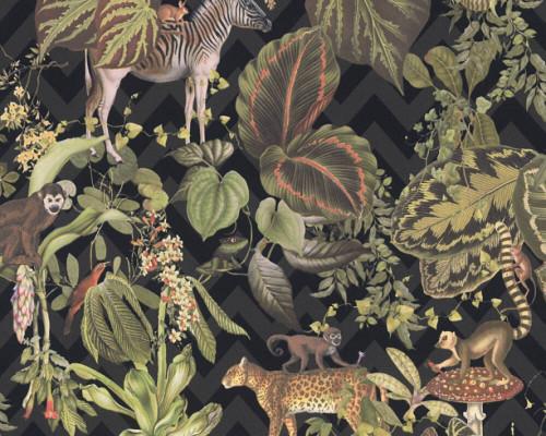 RW379901A Jungle Animals Wallpaper