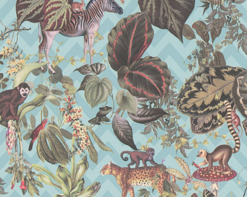 RW379904A Jungle Animals Wallpaper