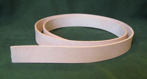 "1.25"" 8-9 oz. Veg Tan Cowhide Tooling Leather Belt Blank for Strops Slings Straps Western Tack Guitar Straps etc."