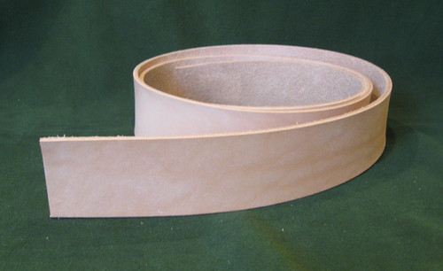 "1.5"" 8-9 oz. Veg Tan Cowhide Tooling Leather Belt Blank for Strops Slings Western Tack Guitar Straps etc."