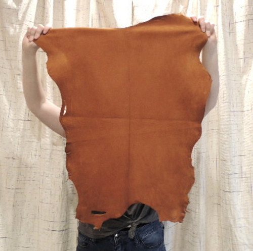 ACORN Buckskin Leather Hide for Native American Crafts Regalia Clothing Medicine Bags Laces Fringe Lining Leather Journal Covers..