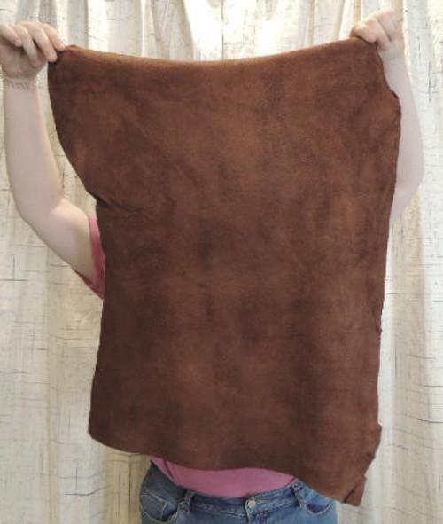 1-15 TOBACCO Deerskin Deer Leather Hide for Native American Crafts Doll Clothes Buckskin Jewelry Cosplay Steampunk Costumes Deerskin Laces