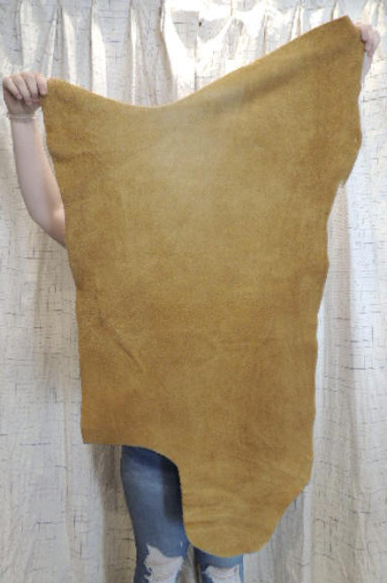 4-6 oz. SAND Buffalo Bison Leather Hide for Native American SASS Cowboy Crafts Moccasins Buckskins SCA LARP Cosplay Costumes@