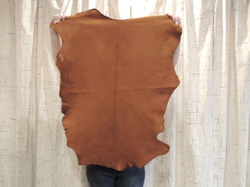 ACORN BUCKSKIN Leather Hide for Native American SCA  SASS LARP Crafts Regalia Leather Laces Bags Antler Mounts,