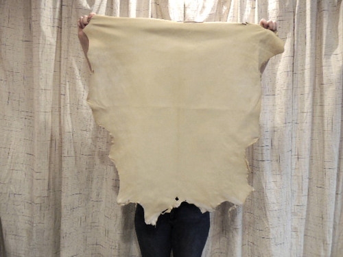 CREAM BUCKSKIN Leather Hide for Native American SCA  SASS LARP Crafts Regalia Leather Laces Bags Antler Mounts,