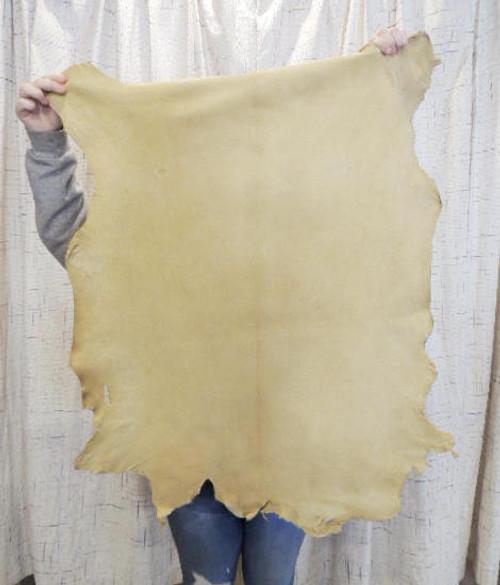 BRAINTAN BUCKSKIN Leather Hide for Native American SCA  SASS LARP Crafts Regalia Leather Laces Bags Antler Mounts,