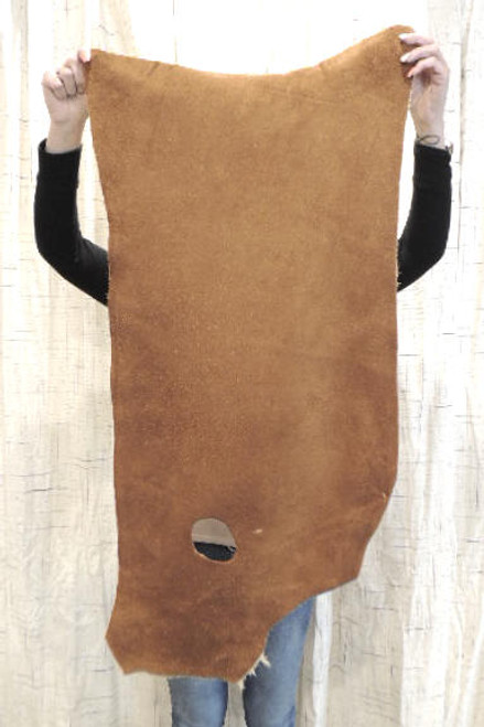 4-6 oz. CARAMEL Buffalo Bison Leather Hide for Native American SASS Cowboy Crafts Moccasins Buckskins SCA LARP Cosplay Costumes.