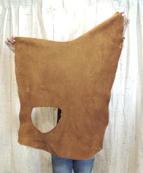 4-6 oz. CARAMEL Buffalo Bison Leather Hide for Native American SASS Cowboy Crafts Moccasins Buckskins SCA LARP Cosplay Costumes=