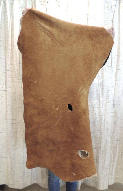 4-6 oz. CARAMEL Buffalo Bison Leather Hide for Native American SASS Cowboy Crafts Moccasins Buckskins SCA LARP Cosplay Costumes$