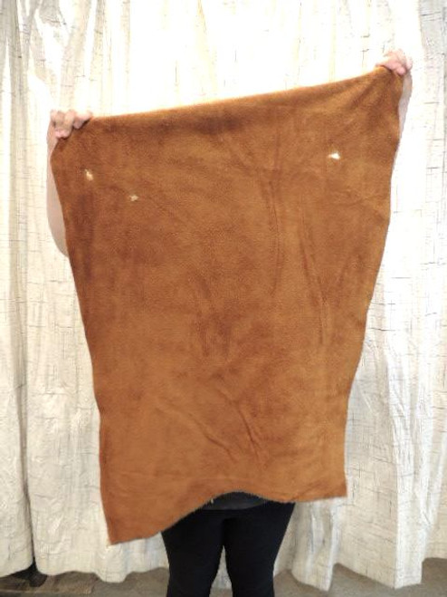 4-6 oz. CARAMEL Buffalo Bison Leather Hide for Native American SASS Cowboy Crafts Moccasins Buckskins LARP SCA Cosplay Costumes......