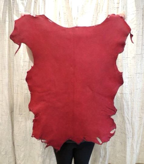 WAXY OX BLOOD RED Leather Hide for Native American Crafts Buckskin Journal Covers Handbags Purses  Lining SCA LARP Garb Cosplay Costumes......