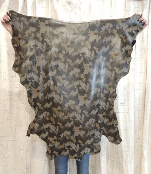 CAMO Full Grain Leather Hide for Purses Clothing Crafts Wallets Journal Covers Handbags.....