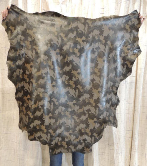 CAMO Full Grain Leather Hide for  Clothing Purses Crafts Wallets Journal Covers Handbags...