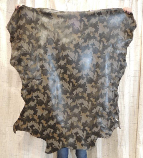 CAMO Full Grain Leather Hide for  Clothing Purses Crafts Wallets Journal Covers Handbags.....