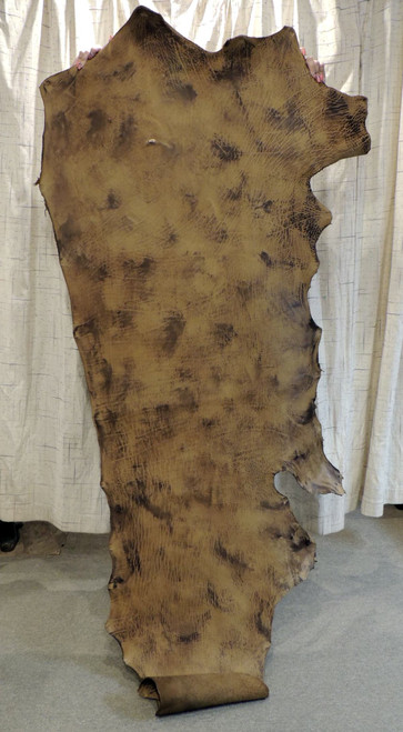 8-9 oz. Veg Tan Buffalo Bison Tooling Leather Hide for Belts Holsters Sheaths Rifle Slings Pouches Quivers