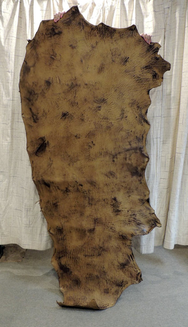 8-9 oz. Veg Tan Buffalo Bison Tooling Leather Hide for Belts Holsters Sheaths Rifle Slings Pouches Quivers.