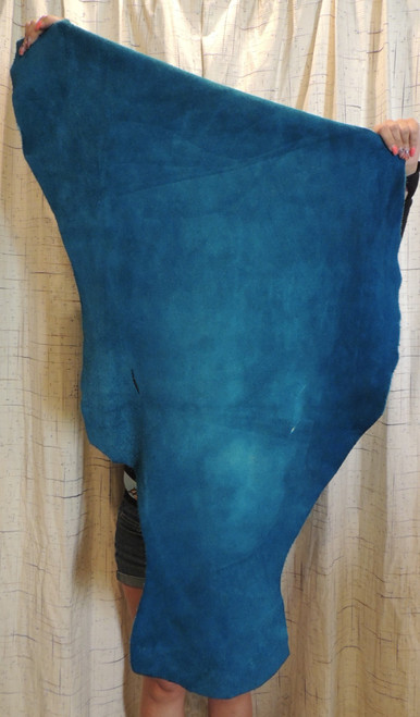 5-6 oz. TURQUOISE Buffalo Bison Leather Hide for Native American SASS Cowboy Crafts Moccasins Buckskins LARP  SCA Cosplay Costumes...