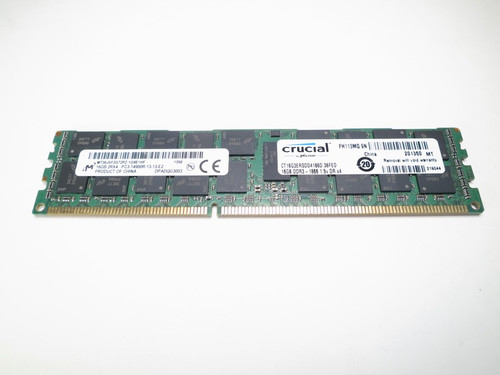 CT16G3ERSDD4186D CRUCIAL 16GB DDR3 1866 RDIMM 2Rx4 CL13 PC3-14900 1.5V 240-PIN SDRAM MODULE