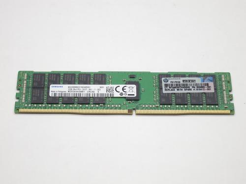 809083-091 HP 32GB DDR4 2400 RDIMM 2Rx4 CL17 PC4-19200 1.2V 288-PIN SDRAM MODULE