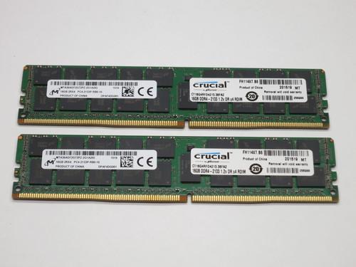 CT2K16G4RFD4213 CRUCIAL 32GB DDR4 2133 RDIMM 2Rx4 CL15 PC4-17000 1.2V 288-PIN