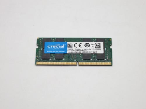 CRUCIAL 16GB DDR4 2400 SODIMM 2Rx8 CL17 PC4-19200 1.2V 260-PIN SDRAM MODULE