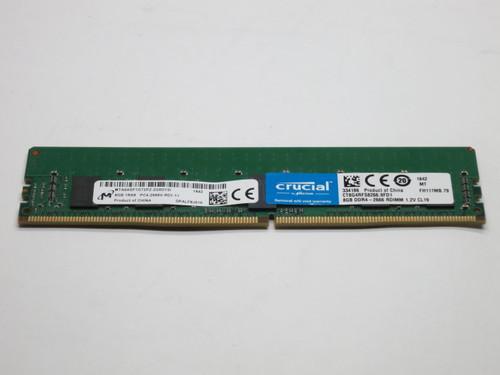 CT8G4RFS8266 CRUCIAL 8GB DDR4 2666 ECC REG 1Rx8 PC4-21300 SERVER MODULE