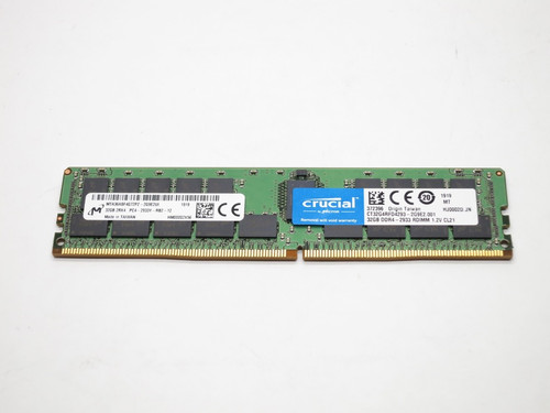 CT32G4RFD4293 CRUCIAL 32GB DDR4 2933 ECC REGISTERED 2Rx4 PC4-23400 SERVER MODULE
