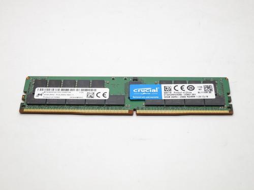 CT32G4RFD4266 CRUCIAL 32GB DDR4 2666 RDIMM 2Rx4 CL19 PC4-21300 1.2V 288-PIN SDRAM MODULE
