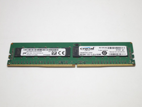 CT8G4RFS4213 CRUCIAL 8GB DDR4 2133 RDIMM 1Rx4 CL15 PC4-17000 1.2V 288-PIN SDRAM MODULE