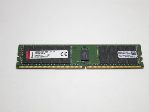 KVR24R17D4/16I KINGSTON 16GB DDR4 2400 ECC REG 2Rx4     PC4-19200 SDRAM SERVER MEMORY MODULE