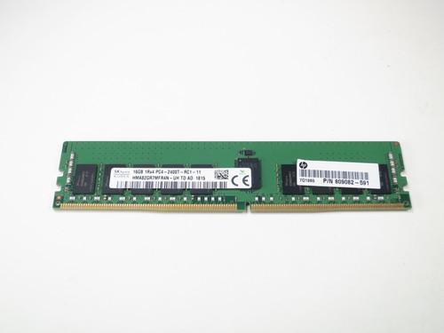 809082-591 HP 16GB DDR4 2400 RDIMM 1Rx4 CL17 PC4-19200 1.2V 288-PIN SDRAM MODULE