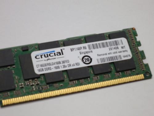 CT16G3ERSLD4160B CRUCIAL 16GB DDR3 1600 RDIMM 2Rx4 CL11 PC3L-12800R 1.35V 240-PIN SDRAM MODULE REF