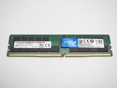 CT32G4RFD4266 CRUCIAL 32GB DDR4 2666 ECC REG 2Rx4 SERVER MODULE REFURBISHED