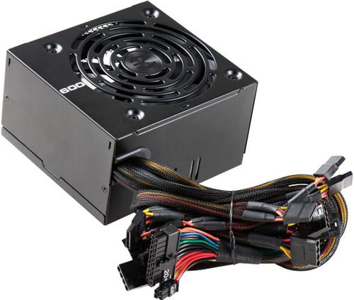 EVGA 600W 80 Plus Certified 100-W1-0600-K1 PSU PN: 100-W1-0600-K1 NEW F/S