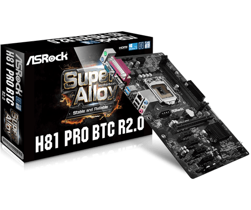 ASRock H81 PRO BTC R2.0 LGA1150 INTEL H81 DDR3 Motherboard FS