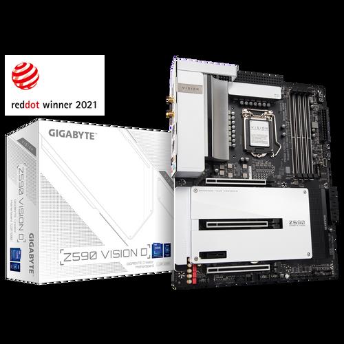 GIGABYTE Z590 Vision D LGA 1200/ Intel/ Z590/ ATX/Triple M.2/ PCIe 4 FS