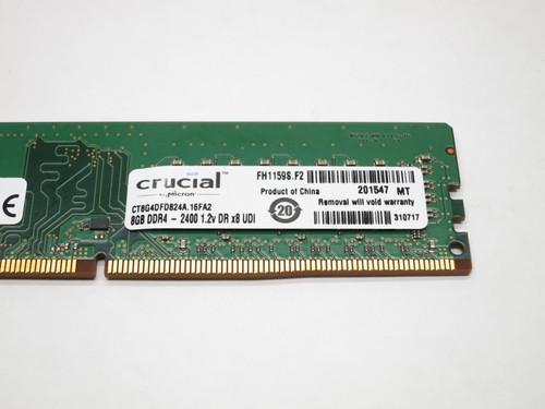 CT8G4DFD824A CRUCIAL 8GB DDR4 2400 UDIMM 2Rx8 DESKTOP RAM