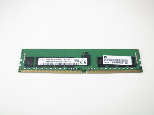 819411-001 HP 16GB DDR4 2400 RDIMM 1Rx4 CL17 PC4-19200 1.2V 288-PIN SDRAM MODULE