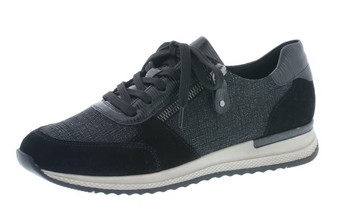 Remonte Lace Trainer Shoe Black Remonter7010-03