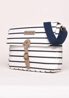 Stripe Saddle Bag