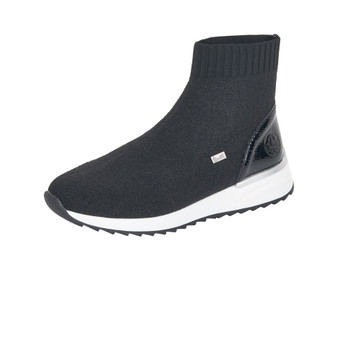 RIEKER X8050-01 SOCK BOOT BLACK