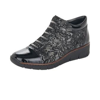 Rieker 53778-00 Black Mock Laced Boot