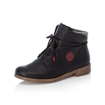 RIEKER 77431-00 LACED BOOT BLACK