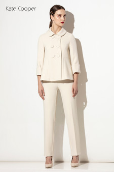 KCAW20145 Double Brested jacket Cream