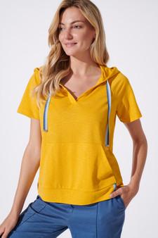 Feria Fh19-3 27 Short Sleeve Mustard Hoody