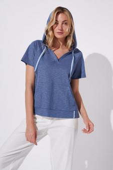 Feria Fh19-3 15 Short Sleeve Blue Hoody