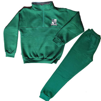 New Clonmore 1/4 Zip Crested Tracksuit