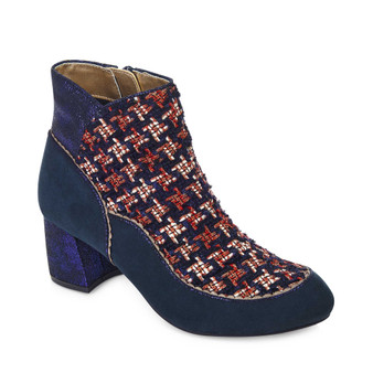 Ruby Shoo Flat Heeled Boot Navy Karolina Grey's of Templemore 37.5